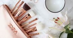 NEW ZOEVA ROSE GOLD MAKEUP BRUSHES | Gifts | Pinterest | Rose Gold Makeup, Gold Makeup and Brushes
