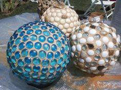 How to make DIY gem-covered garden globes