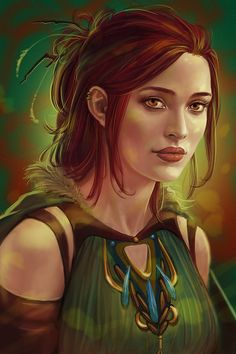 f Rogue Thief Leather Armor Cloak portrait Tiwa by Cher-Ro  Commission