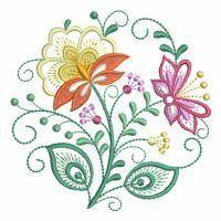 Jacobean Floral Circle