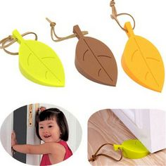 Autumn leaf shaped silicone (rubber) door stopper (wedge) http://ali.pub/1enu0o