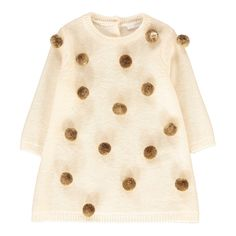 Pompom Dress - Il Gufo Available on Smallable