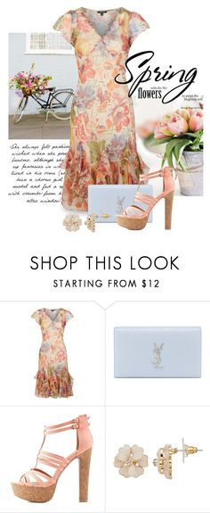 """Spring Trend: Girly Dresses 1270"" by boxthoughts ❤ liked on Polyvore featuring Lauren Ralph Lauren, Yves Saint Laurent and Charlotte Russe"