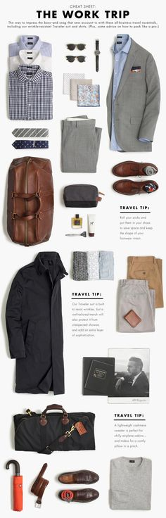 The Work Trip Wardrobe. Build A Perfect Capsule Wardrobe. The Work Trip Wardrobe. Build A Perfect Capsule Wardrobe. Mode Masculine, Men's Wardrobe, Capsule Wardrobe, Mens Wardrobe Essentials, Mode Outfits, Fashion Outfits, Fashion Shoes, Look Man, Herren Outfit