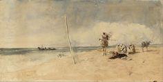 Playa Africana, 1867. Acuarela, 31,5x61cm. Museo Nacional de Arte de Cataluña.