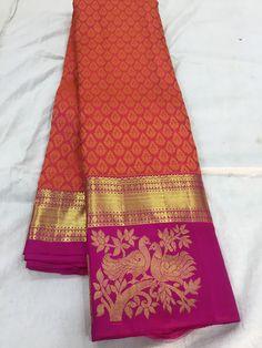 Crepe Silk Sarees, Tussar Silk Saree, Kanchipuram Saree, Pure Silk Sarees, Cotton Saree Blouse Designs, Half Saree Designs, Saree Blouse Patterns, Traditional Trends, Traditional Sarees