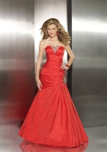 Sparkling A-Line Red Silky Taffeta beading 2011 Evening Gown Formal Dress   $150.00