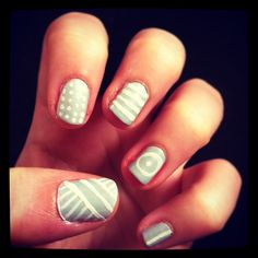 My first go at nail art