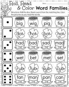 Kindergarten Math and Literacy Printables - March - 3