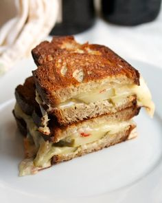 Grilled Cheese with Pepper Jack & spicy pickles