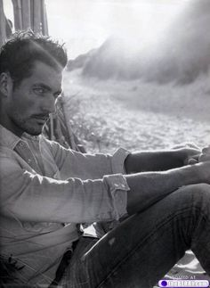 David Gandy - he's a little clark gable-esk here - only more perfect & gorgeous