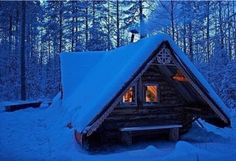 Hut in the taiga in Arkhangelsk, Russia.