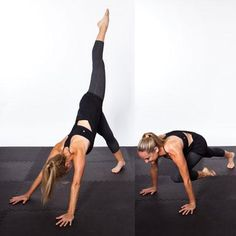 HYDRIVE Energy - the best yoga poses for flat abs - Downward Dog Variation.