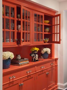 I'd love to do a pop of color like this when we finally get to our kitchen remodel. I can picture a cabinet like this with the fridge right next to in on our one random wall. Moroccan Lounge - eclectic - dining room - minneapolis - by Lucy Interior Design Moroccan Lounge, Pantry Cupboard, Wall Pantry, Butler Pantry, Built Ins, My Dream Home, Layout Design, Design Ideas, Design Projects