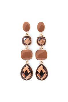 Jenna Earrings in Cocoa