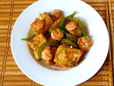 Easy Chinese Tofu Recipe With Shrimps (Stir-fry)