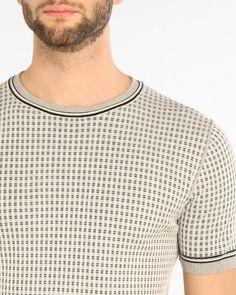 dd3d2373398903 T-shirt con motivo micro-check Paolo Pecora