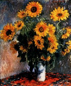 Sunflowers    1881, Claude Monet