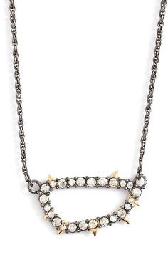 Alexis Bittar 'Elements' Spike Crystal Link Pendant Necklace