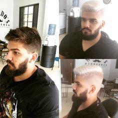 Aahhh eu me amarrei nesse trampo . Muuiito top esse #platinado . Muito obrigado pela confiança de sempre amigo !#estilomachados #estilo #machadosbarber #machados #barbas #barber #platinado #branco.