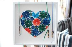 Colorful 3D Flower wall art