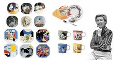 Tove Slotte (b. has illustrated Arabia's Moomin products since the early based on the original drawings by Tove. Moomin Mugs, Ceramics, Inspiring Art, Drawings, Illustration, Artists, Inspiration, Accessories, Google Search