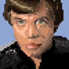 Star Wars Pixel Art ‏@starwarspixel  Nov 6 Even in pixel form, @HamillHimself has that Jedi stare down. #pixellatedpadawan