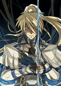 Ky Kiske Video Game Anime, Video Game Art, Video Games, Anime Manga, Anime Art, Guilty Gear Xrd, Fighting Games, Game Character, Warriors