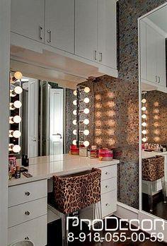 Мечта каждой девушки! Свой собственный профессионально оформленный уголок красоты!❤️✨ Заказать гримерное зеркало с лампочками можно по телефону: 8-918-234-18-19 #ProDecor #Зеркала #Гримерка #ГримерноеЗеркало #зеркалослампочками #визаж #makeup