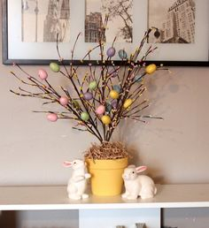 Easter Tree made with dollar store finds..  by SmallHomeBigStart, via Flickr