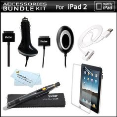Vivitar Power And Safety Accessories Bundle Kit For Apple iPad 2 and iPad 1 2nd Generation 16GB 32GB 64GB 3G Wifi Includes Home and Car Charger + Screen Protector + Sync Cable + Lens Pen Cleaning System + MicroFiber Cloth (Electronics)  http://www.99homedecors.com/  B005FYIXY6