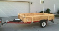 Folding Harbor Freight Utility Trailer...would need these upgrades.