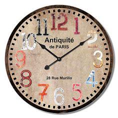 "Extra Large Retro Shabby Chic Wall Clock. 60cm Diameter (23"" +) HLZ.1F011 in Home, Furniture & DIY, Clocks, Wall Clocks | eBay"