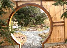 Moon gate for a zen garden