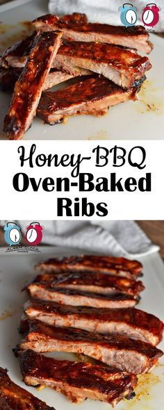 Honey-BBQ Oven-Baked Ribs on Alarm Clock Wars. Make these Honey-BBQ Oven-Baked Ribs right in your own kitchen. Grab some wet wipes. Make all the mess you want, and enjoy!