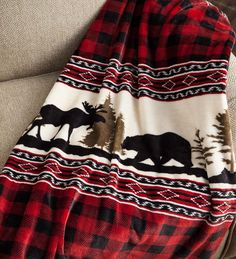 Keep this Wilderness Buffalo Plaid Fleece Throw handy to take away the chills in a super-soft, super-cozy way! The microfiber fleece material is incredibly plush and warm, and has great looks to boot. Plaid Living Room, Plaid Bedroom, Living Rooms, Moose Decor, Bear Decor, Plaid Decor, Rustic Cabin Decor, Western Decor, Lodge Style