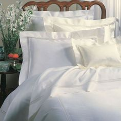 Shop Full/Queen Macrame Lace Duvet Cover from SFERRA at Horchow, where you'll find new lower shipping on hundreds of home furnishings and gifts. Lace Bedding, Bedding Shop, White Bedding, Luxury Bedding Collections, Sateen Sheets, Silk Sheets, Fine Linens, Lace Inset, Houses
