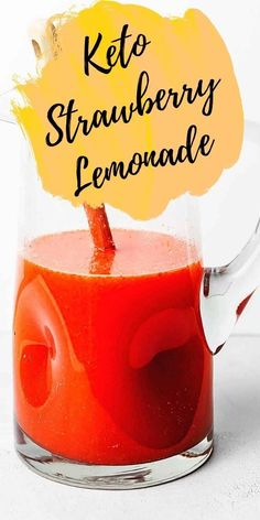 Take a refreshing sip, filled with fresh strawberries and freshly squeezed lemons! This keto strawberry lemonade is the perfect healthy alternative for kids and those high-in-sugar lemonades! Keto Snacks, Snack Recipes, Low Carb Chips, Low Carb Crackers, Strawberry Lemonade, How To Squeeze Lemons, Fat Bombs, Healthy Sweets, Healthy Alternatives