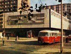 Warszawa - SDH Feniks przy ul. Żelaznej (lata 60.-70. XX w.) Warsaw Poland, Socialism, Brutalist, Homeland, Past, Cold War, Architecture, Mj, Places