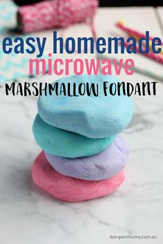 This Easy Homemade Microwave Marshmallow Fondant tastes so good, you will never buy store-bought fondant again