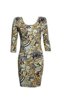SCARF PRINT BODYCON DRESS Bodycon Dress, Dresses With Sleeves, Formal Dresses, Long Sleeve, Awesome, Fashion, Dresses For Formal, Moda, Body Con