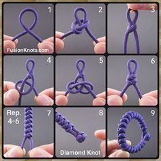 🎅🏼🌲Snake Knot Bracelet - Step-by-Step (image) Instructions. in my book, Paracord Fusion Ties - Volume 🌲🎁Book… Paracord Knots, Rope Knots, Paracord Bracelets, Macrame Bracelets, Paracord Ideas, Macrame Knots, Paracord Braids, Paracord Tutorial, Paracord Projects