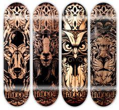 Hydro 74 Laser Engraved Pieces. #Skateboard #Design #art