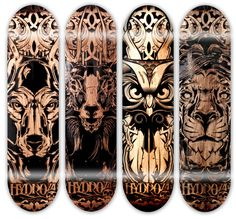 Hydro 74 Laser Engraved Pieces. #Skateboard #Design #art