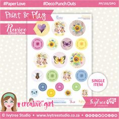 - Print&Play - Deco Punch Outs - Revive Collection Punch Out, Printable Paper, The Creator, Paper Crafts, Symbols, Collections, Play, Deco, Creative