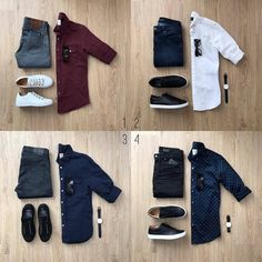 1, 2, 3 or 4 ??? Follow @capsulewardrobemen ...... . . @mrjunho3