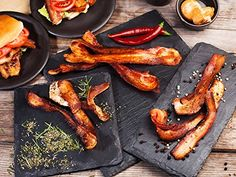 We put together this list of the best bacon subscription boxes you can get delivered right to your front door. That's right — people (saints, really) will send bacon to you. Every month, if you want. Bacon Festival, Bacon Gifts, Gourmet Recipes, Cooking Recipes, Game Recipes, Gourmet Gifts, Bacon Recipes, Chicken Recipes, Recipies