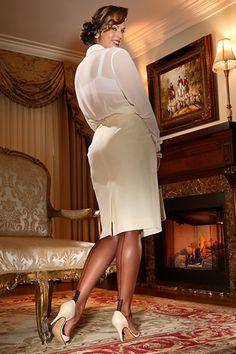This long sheer blouse is wonderful!