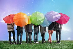 Umbrella Photography, Colorful Umbrellas, Rite Of Passage, Wet Weather, Rainbow Colors, Aesthetic Pictures, Royalty Free Stock Photos, Photoshoot, My Style