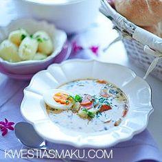 Zupa szczawiowa z ziemniakami   Kwestia Smaku